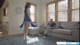 Petite Alice March loves riding her stepbros big cock