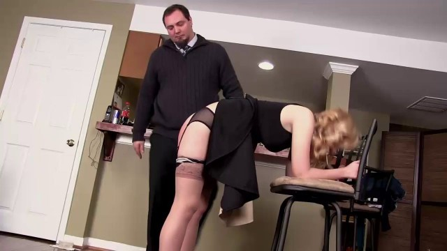 Husband Spanking Wife Charming girl Ruby slap in the ass