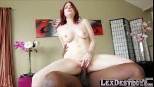 Jessica loves riding Lexingtons big cock