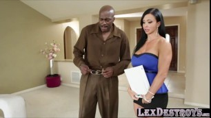 Jewels loves riding Lex big black cock
