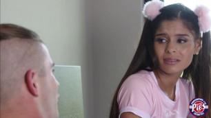 Teen Katya Rodriguez learns how to fuck with stepbro