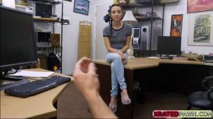 Petite teen Kiley Jay bangs the pawn owner for revenge