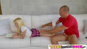 Petite blonde Piper Perri fucks her stepbros monster cock