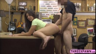 Lovely stunner Lilly bends over and rides a hard cock