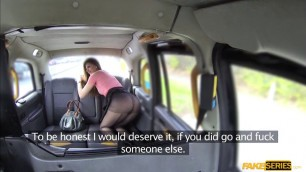 Hot babe Eva Johnson wants the taxis drivers cock in her pussy