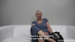 Czech Anna 1119 mature woman bared her body and buttered her on porn casting