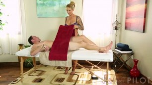Ryan Conner Tattooed Blonde does massage and fucks Massage