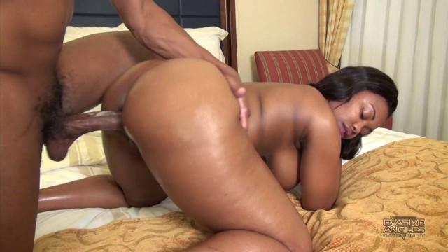 Nina Rotti is a Big Ass Ebony Teen fucks in a doggy tail position