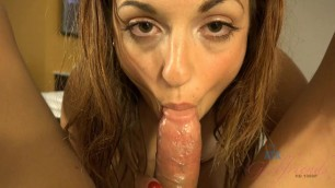 Seductive Girl Mackenzie Lohan caresses his cock