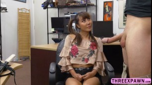 Asian stunner Tiffany Rain recieves a hard pussy fuck