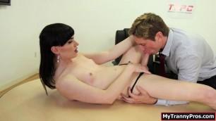 Damien slams hot TS Natalies juicy ass