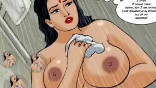 Indian Big Boobs in the shower cartoon porn