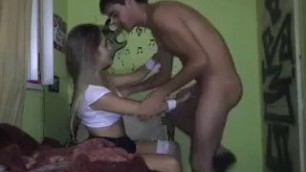 Teen brother and Lovely sister have fun fucking at home