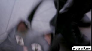 Brunette slut Riley Reid fucks a complete stranger