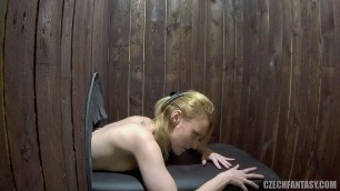 Czech Guys fuck girls through a hole in the wall 8 part 1 4