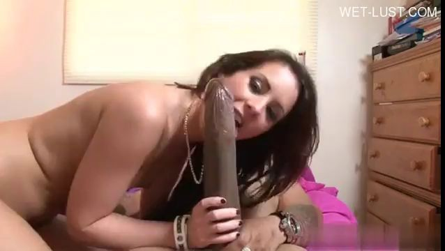 Ramons monster dick in action again A huge dick for a brunette