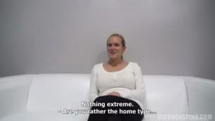 CzechCasting e0859 lenka 1476 blonde caresses her wet pussy on porn casting