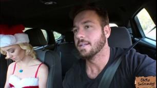 Horny petite Haley Reed fucks a stranger for a ride