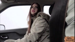 Sexy Rebecca Volpetti gets fucked in doggystyle in the car