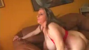 Big Brunette MILF Maki with natural big tits and big ass goes riding