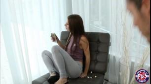 Petite Anya Olsen fucked her boyfriend for free rent