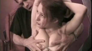 Bondage fetishist with Nude big boobs feeds her lust for pain and pleasure