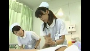 Japanese nurse blushes his cock That my favorite nurses y all 3