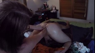 Anal Femdom Fisting Deep anal fist fucking and almost 2