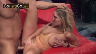 Delightful Blonde Big Boobs Charisma Cappelli takes a dick