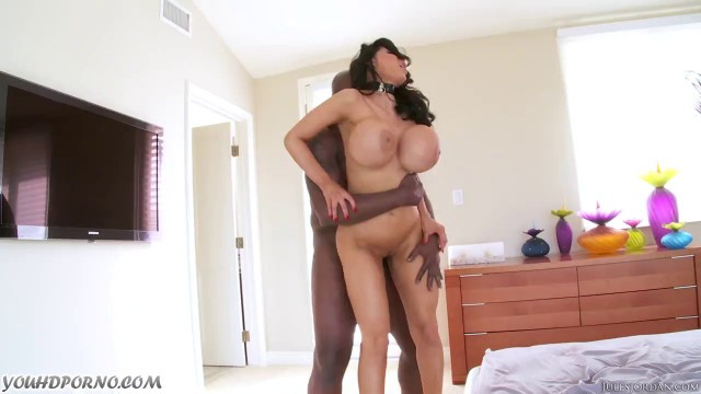 Busty bitch Amy Anderssen gets fucked by hard black cock