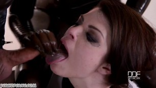 Latex Lucy Lucia Love Deep Anal BDSM sandwich and pee in her mouth