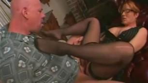 Mature fucked Mature woman Amalia sucks cock and fucks