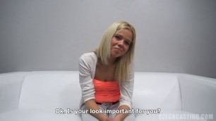NIKOLA 1306 Blonde with small tits bared her body CzechCasting