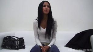 E0383 IVANA 7734 Amateur Brunette Babe Casting CzechCasting