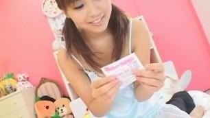 Best Japanese chick Marin Akizuki in Crazy Couple POV Blowjob movie