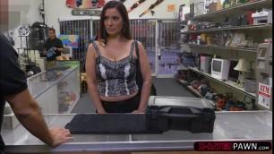 Milf Sophie Leon sucks and fucks Shawns cock for money