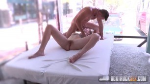 BoxTruckSex Delightful Eva Briancon gets Fingered in the Public Sex Truck
