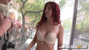 Raunchy Redhead Shona River starts a modeling career BoxTruckSex
