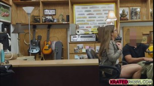 French babe Charlie Harper gets banged in the office