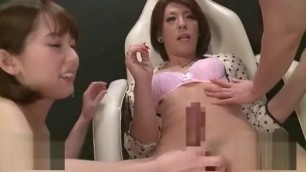Horny Brunette Japanese whore in Crazy Blowjob JAV video