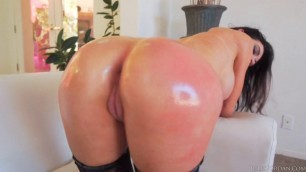Sexy brunette slut with big tits Kendall Karson anal fucked