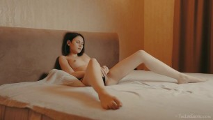 TheLifeErotic Alla B Peeping naked girl in bed 2