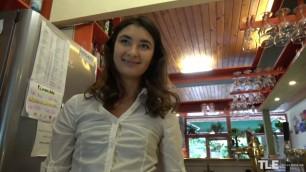TheLifeErotic Elegant Brunette Bambi Joli Undercover Waitress