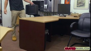 Sophie Leon tight pussy stretched in the office