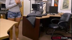 Latina Mariah sweats hard by fucking a pawn dudes dick