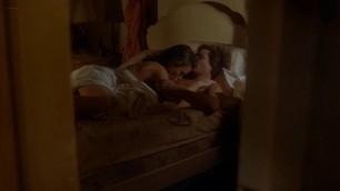 Maren Jensen nude butt and bush in sex scene Deadly Blessing 1981