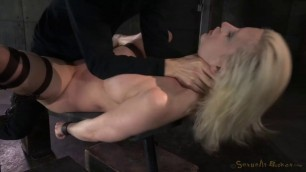 SexuallyBroken Cherry Torn she spreads her legs wide pussy