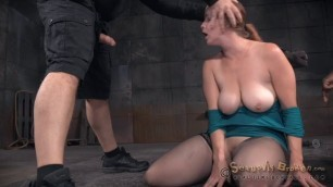 sexuallybroken Bella Rossi busty woman is forced to suck cock