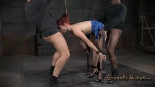 SexuallyBroken Stunning Redhead Violet Monroe suck and fuck