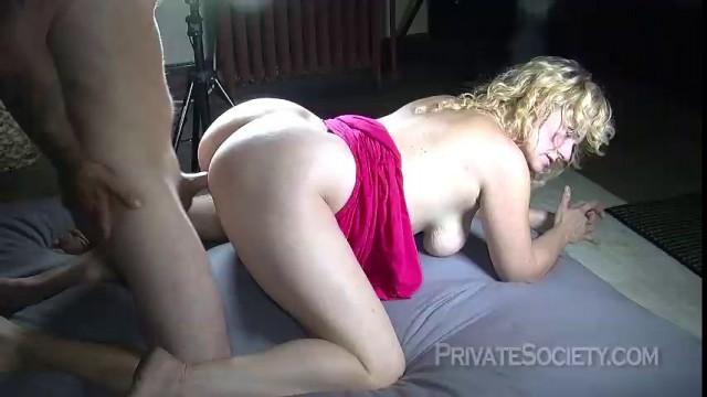 PrivateSociety Miss Jane Ass Mature blonde fucks